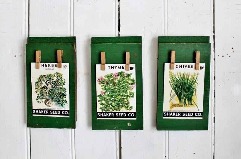 Vintage Seed Pack Wall Art