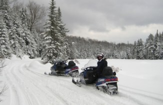 We have 40 acres for snowmobiling.