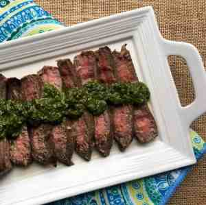 Marinated Flank Steak with Chimichurri Sauce