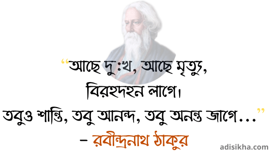 Rabindranath Tagore Death Quotes in Bengali