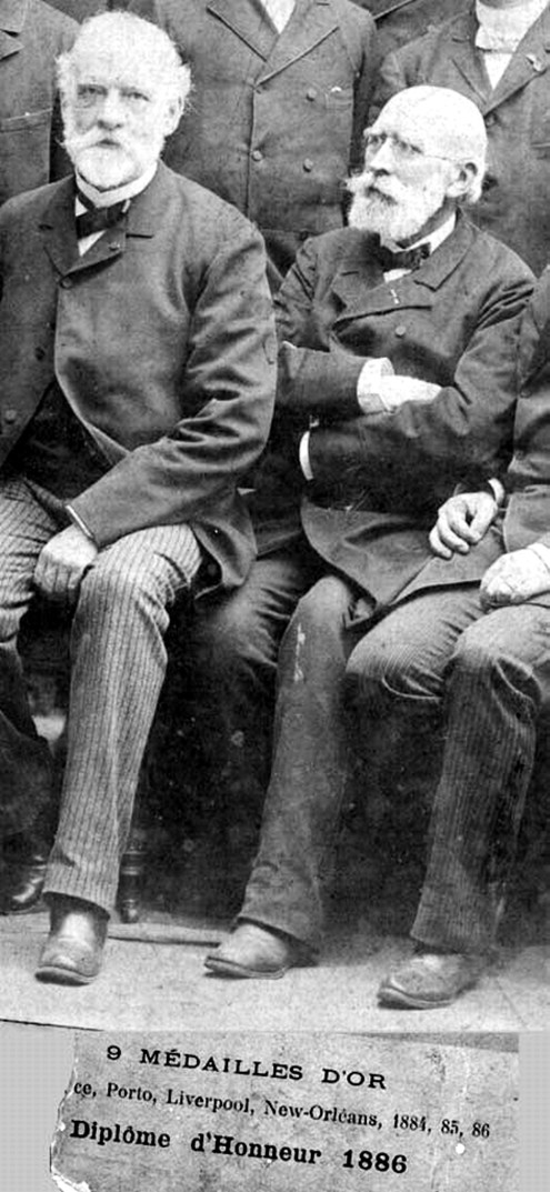 Antoine Bechamp with Louis Pasteur. At the time, they were bitter rivals, on account of Pasteur's plagiarism.
