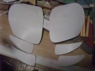Rear panels heat formed