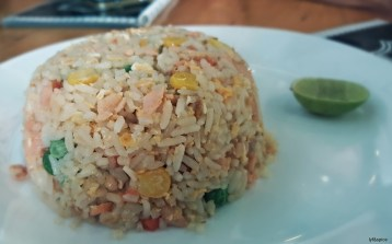 Salmon fired rice