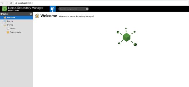 Starting a Nexus Maven repository using Docker for testing or demos