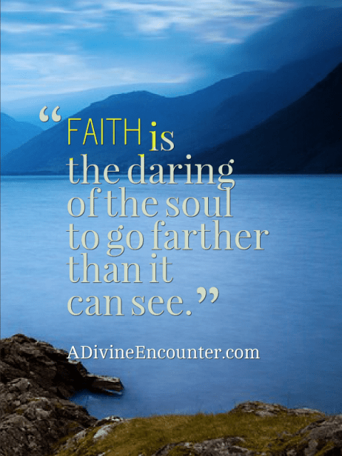 Never doubt -- living by faith; Uplifting post from a writer in the midst of a storm. https://adivineencounter.com/never-doubt