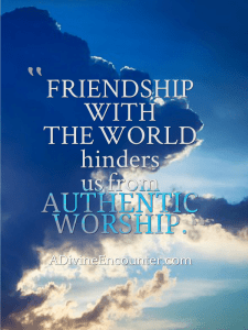 Is God receiving your worship? Or is He ignoring it? Even worse, is He condemning it? He doesn't want us to guess about such an important question. Let's consider it together. https://adivineencounter.com/the-worst-friend