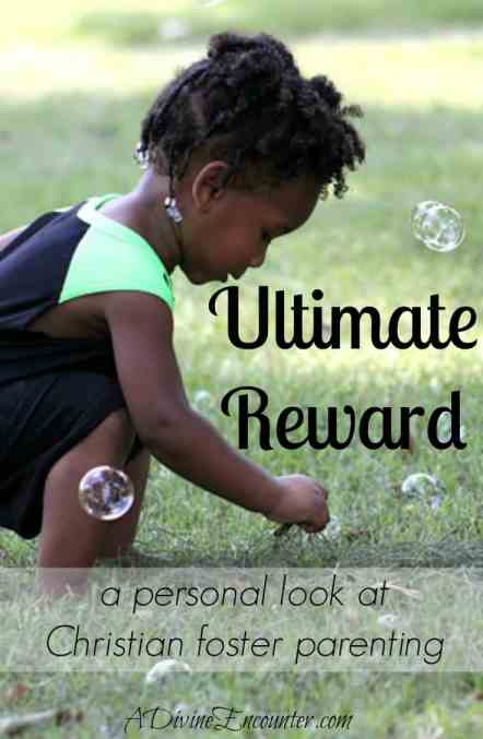 What's the proper goal for Christian foster parenting? The answer may surprise you! As the author shares from her experience, it's not just about the kids. (Isaiah 26:8) https://adivineencounter.com/ultimate-reward