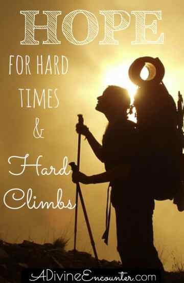 Sometimes life is hard, even for Christians. How can we hang on? Where do we find hope? This uplifting post offers hope for hard times.