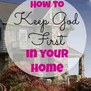 Keep God First