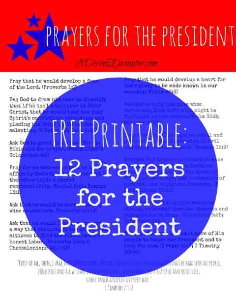 Prayers for the President (A Divine Encounter)