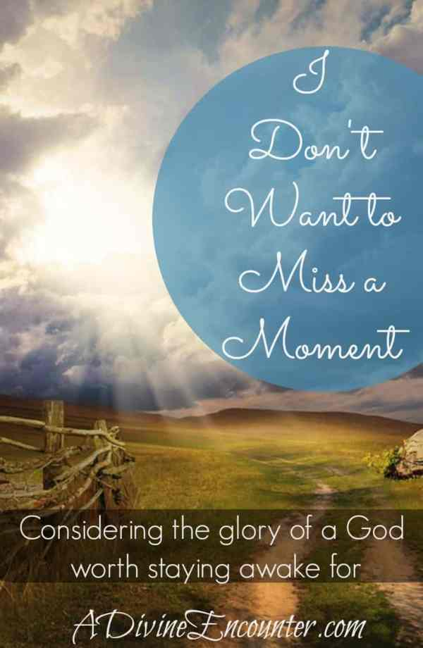 I Don't Want to Miss a Moment (A Divine Encounter)