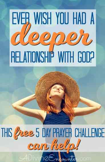 Christians want to draw nearer to God, longing for a deeper relationship with God. No matter where you are in your Christian walk, there's always room for drawing closer to God. Take the FREE 5-day prayer challenge, Drawing Close to God in Prayer.