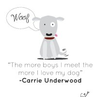 """""""The more boys I meet the more I love my dog."""" - C…"""