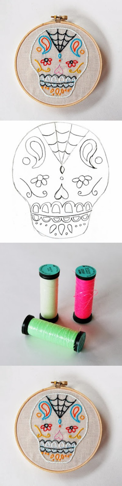 11. Embroidered Sugar Skulls