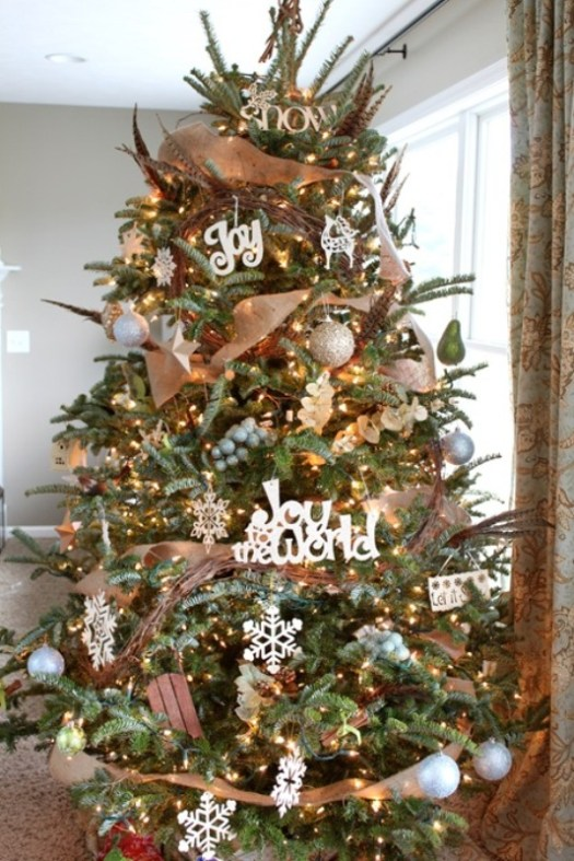 Natural Christmas Tree Decorations Ideas.Natural Xmas Tree Decorations Decoration For Home