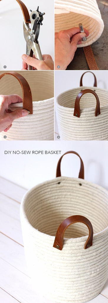 DIY No Sew Rope Coil Basket