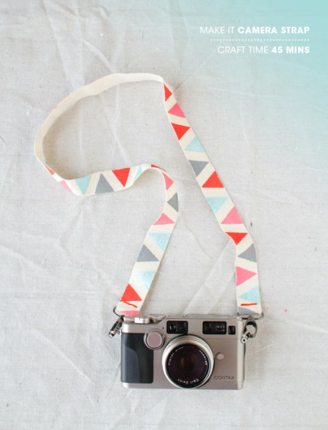 DIY Colorful Camera Straps