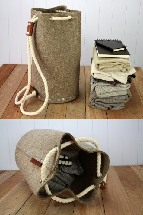 Felt Backpack Duffle Bag