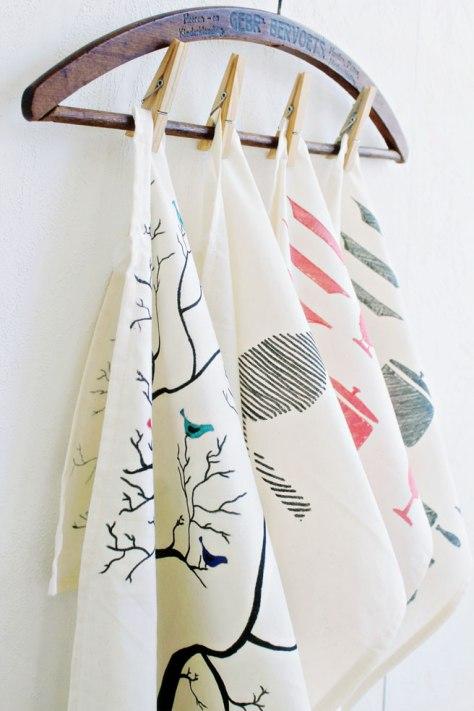 DIY Painted Tea Towels