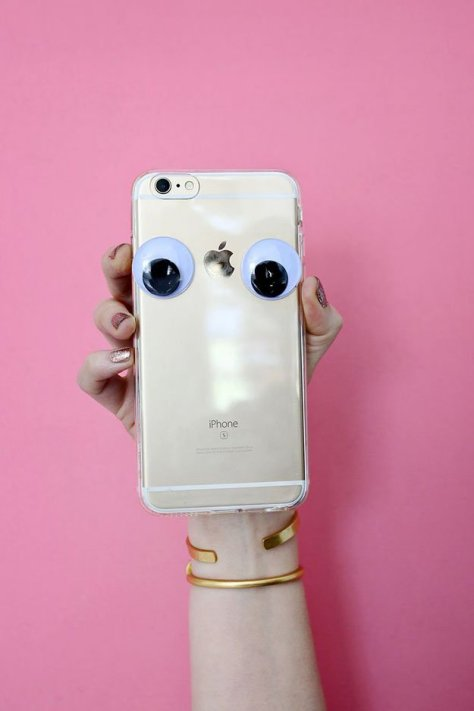 DIY Googly Eyes Phone Case