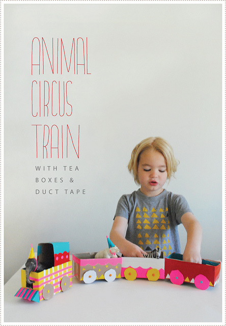 DIY Tea Box Circus Train