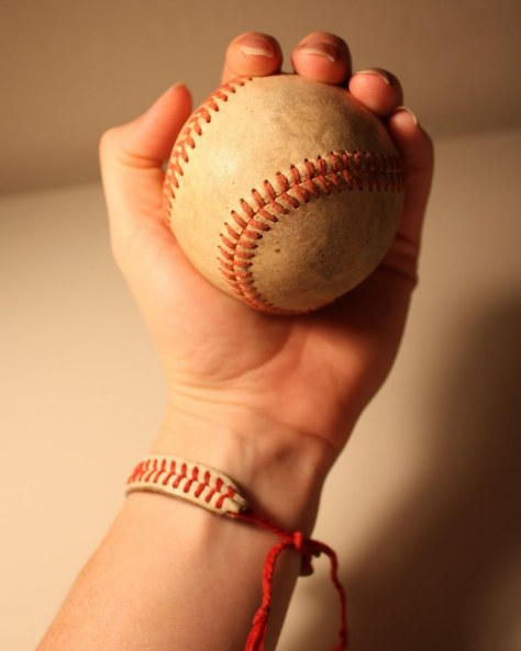 DIY Baseball String Bracelet