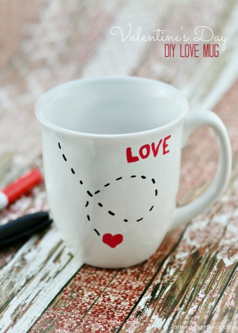DIY Love Mug For Valentines Day