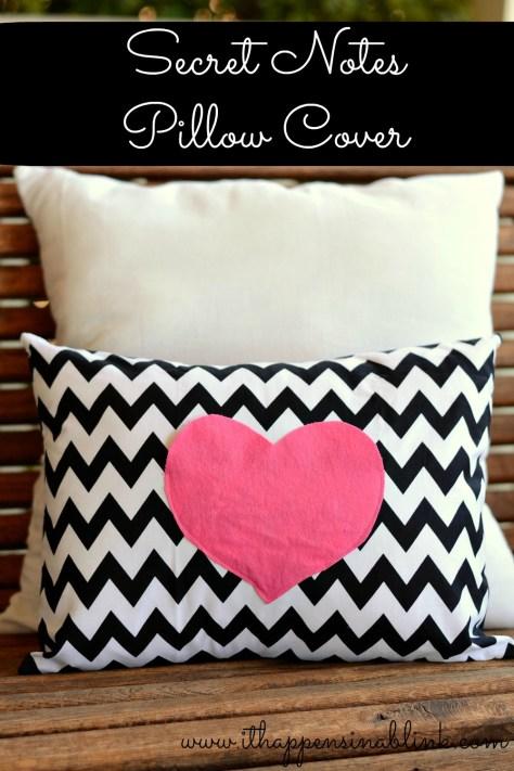 DIY Secret Love Notes Pillow Case