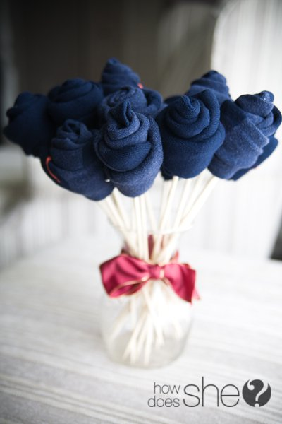 DIY Sock Bouquet