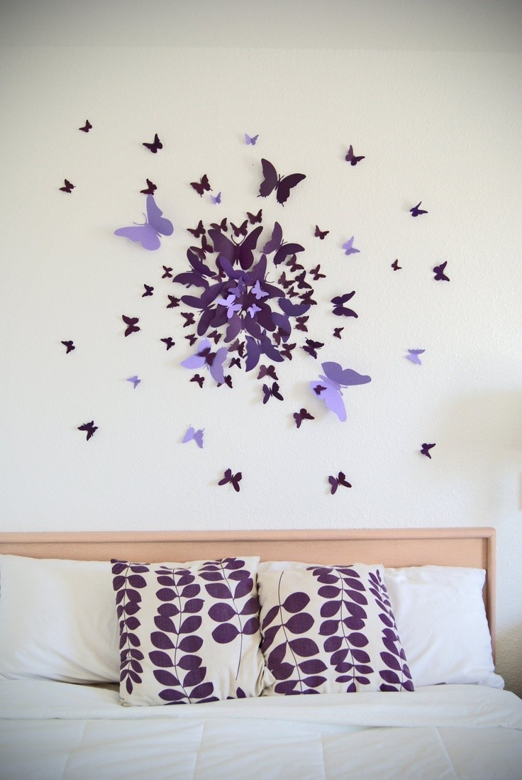 Make This Beautiful 3D Butterfly Wall Art Project And Give A Very Charming  And Awesome Look To Your Bedroom. You Can Choose The Butterfly Color Theme  ...
