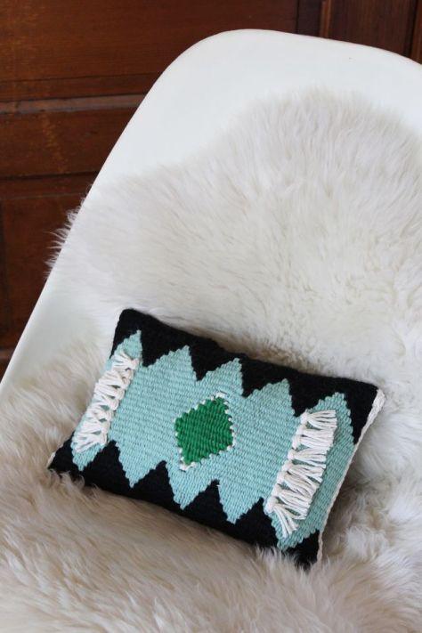 DIY Cozy Woven Pillow