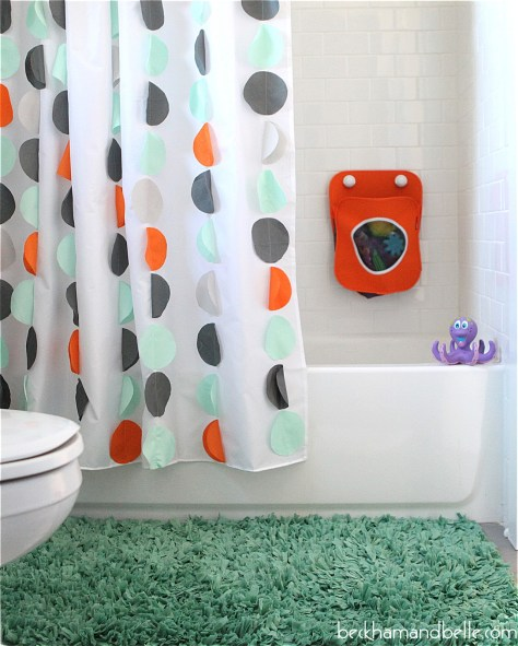 DIY Kids Shower Curtain