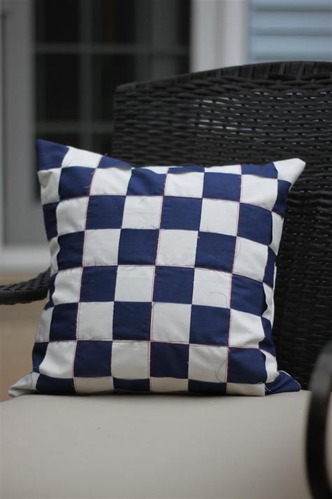 DIY Woven Fabric Pillow