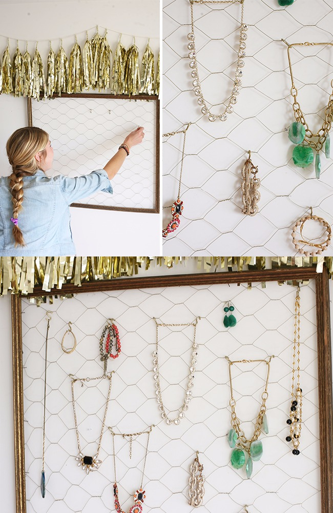 DIY Jewelry Organizer For Beautiful Jewelry Display A DIY Projects