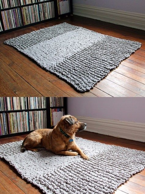 Bulky Knit Rug Pattern