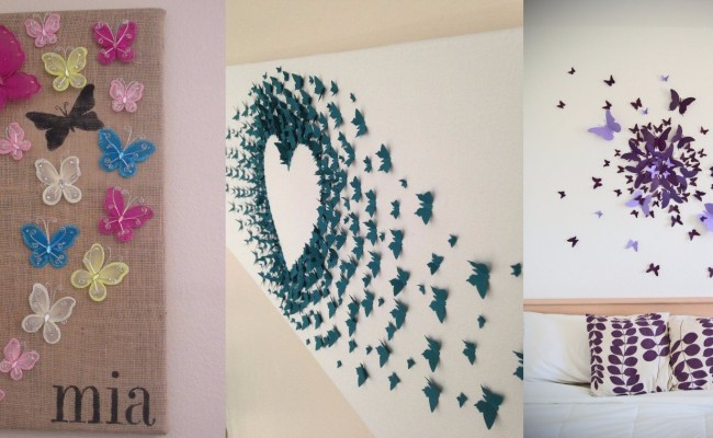 10 Diy Butterfly Wall Decor Ideas With Directions A Diy