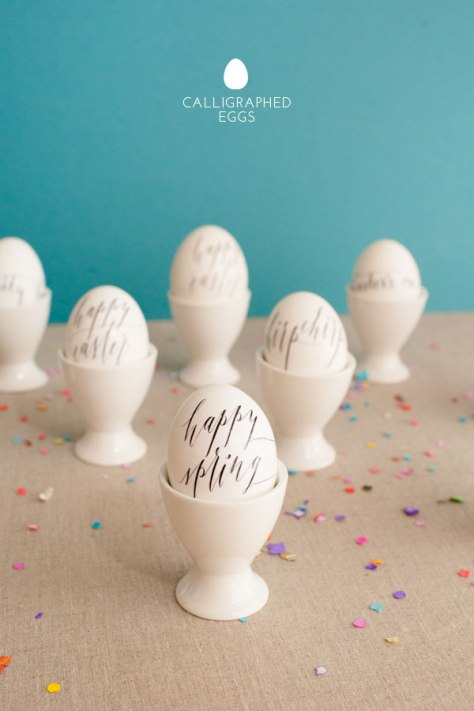 Calligraphy Easter Eggs