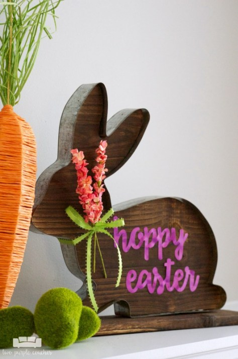 Rustic Easter Bunny Sign
