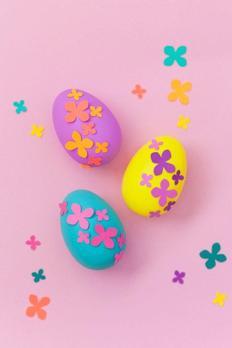 Paper Flower Easter Eggs