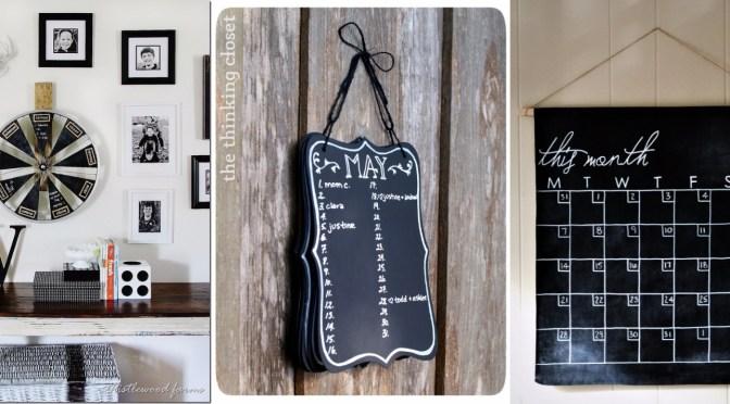 10 DIY Chalkboard Calendar Tutorials
