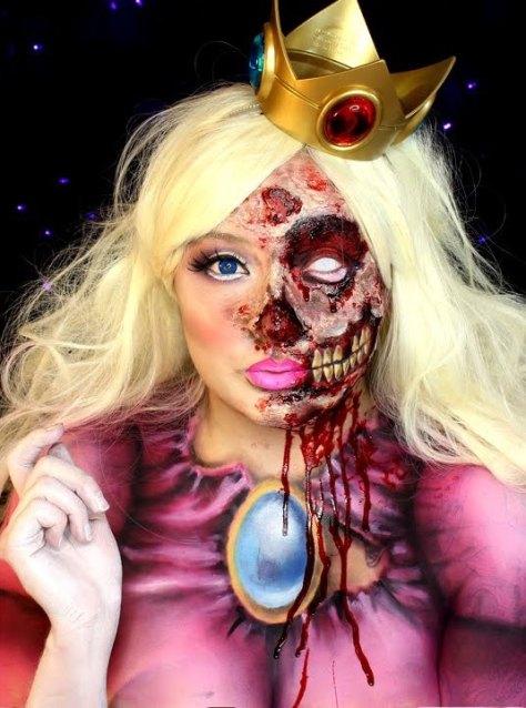 Zombie Princess Peach Halloween Makeup