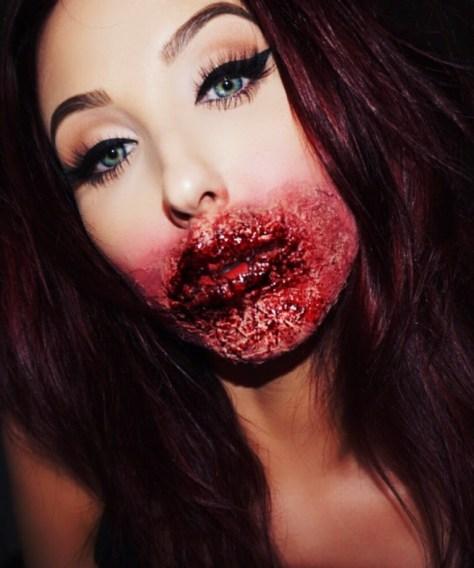Glam Zombie Halloween Makeup