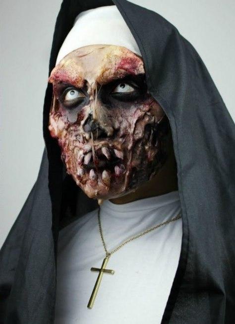 Zombie Nun Halloween Makeup