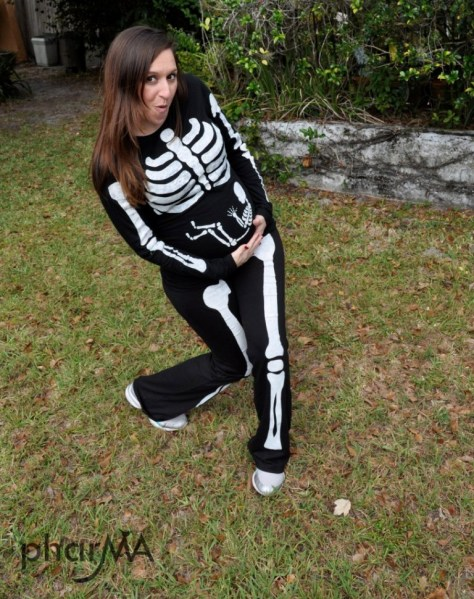 Pregnant Skeleton Halloween Costume
