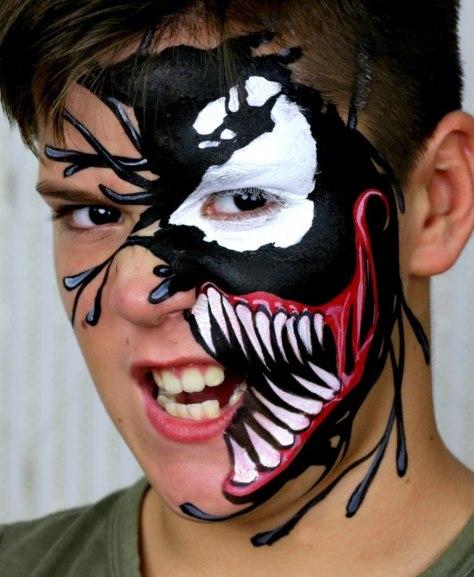 Black Spiderman Halloween Makeup