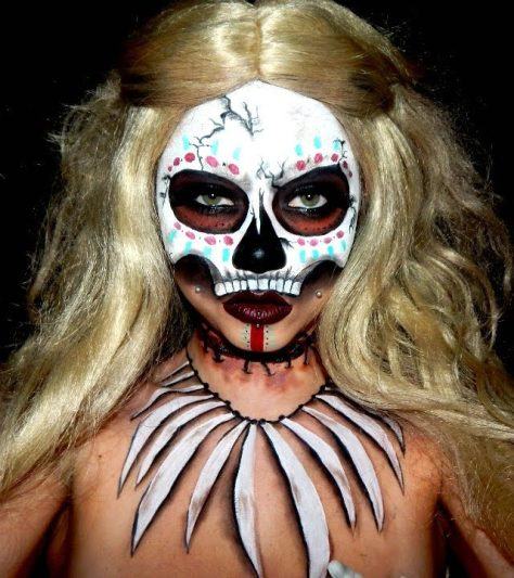 Witch Doctor Halloween Makeup