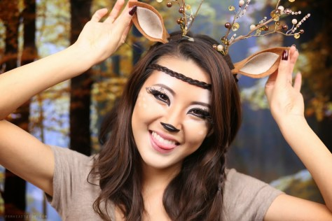Simple Deer Halloween Makeup