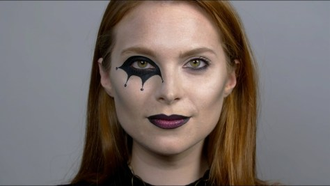 Harlequin Eyes Halloween Makeup