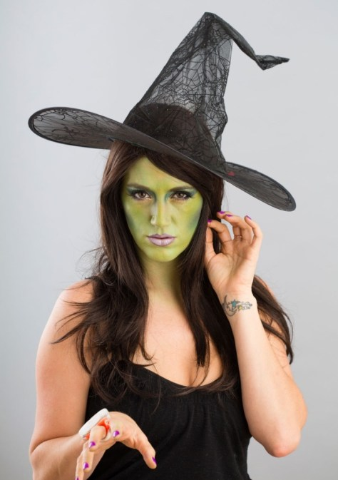 Green Witch Halloween Makeup
