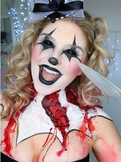Killer Clown Halloween Makeup